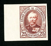 Luxembourg Stamps # 63 VF Unused Imperforate Essay