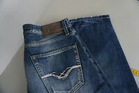 REPLAY Jennon Damen Jeans Hose W29 L32 stonewashed used darkblue TOP ad16