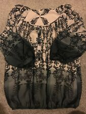 Women's Top By BHS - Ombré Black - Lined - Size 10