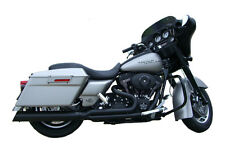 502N-31LBQ D&D Exhaust Fat Cat 2:1 Black for 1995-2008 HD FLH/FLT Touring Models