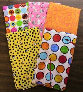 5 Half Yard Cuts – Novelty Mix Lot 6 - Quilting, Sewing, 100% Cotton E3206