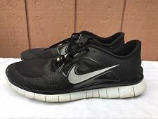 EUC Nike Free Run + 3 Men's Running Shoes Size US 13 EUR 47.5 Black 510642-002