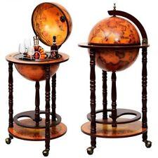 "New 36"" Wood Globe Wine Bar Stand 16th Century Italian Rack Liquor Bottle Shelf"
