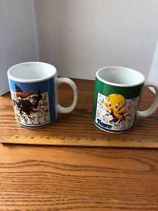 Tweety Bird Daffy Duck  Mugs Looney Toons Warner Bros Studio Sketches 1995