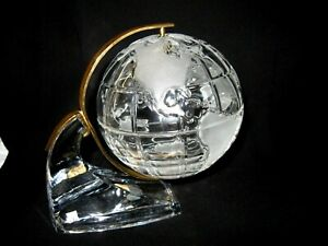 Vintage CRYSTAL WORLD GLOBE- Rotating Earth - Made in Germany