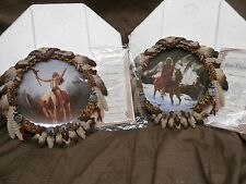 Hamilton Plate Mystic Warriors DELIVERANCE & BLUE THUNDER Set Native American