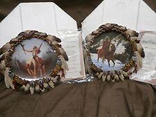 Hamilton Plate Mystic Warriors DELIVERANCE & BLUE THUNDER Set Native American