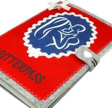 Mutterpasshülle MUKI Pass aus Filz mit Satin   Schutzhülle für Mamapass in rot