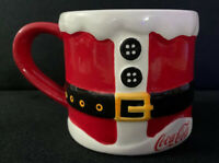 Coca Cola Coke Santa Suit Square Buckle Coffee Mug Christmas Ceramic Cup Holiday