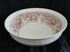 "Lg Antique B G & W Wash Basin ""Pomegranate"" Late Mayers Bowl Transferware C1880"