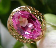 Designer Ring 583° Gold echter Turmalin Russland Gr.55  im Jugendstil 1960 R218