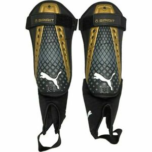 """Puma King Spirit Shin Guards With Ankle Socks - Black - L For  5'1""""-5'9"""""""