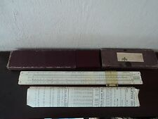 VINTAGE EARLY DRAWING EQUIPMENT SLIDE RULE WITH ORIGINAL BOX/CASE AND PAPERWORK