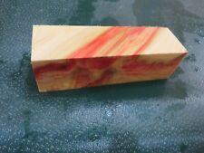 FF- FLAME BOX ELDER BURL  DELUXE KNIFE BLOCK/SCALES/ CALLS/ PEN BLANKS--F--55