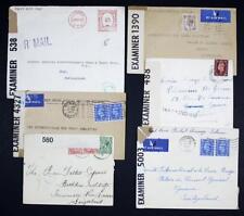 GB Covers to Switzerland x 6. Red Cross Postal Message Scheme etc