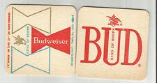 """Pair Of 1950's Budweiser Beer Coasters-St.Louis 3 1/2"""" """"King Of Beers""""#1122  #1"""