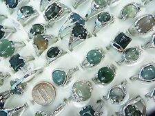 [US SELLER] 10pc  genuine agate stone and gemstone costume jewelry rings