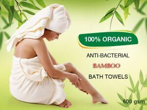 Organic Bamboo Luxury Bath TowelsSet of 2