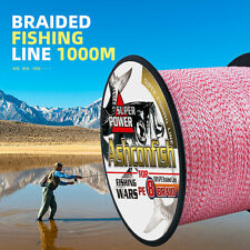 8 Strands 8 Braided Fishing Line 1000m 6~300lb Red&White Mixed Color PE Line