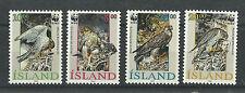 Iceland 762-765 (1992) Mnh/Ognh; Vf/Xf {Illustrated} 4 Wwf Stamps