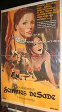 Alex deRenzy's Femmes De Sade Pornographic Film Poster - (C-6 / C-7) 1976