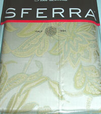 Sferra Angelico King Pillow Sham Floral Egyptian Cotton Sateen Jacquard New