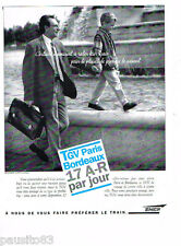 PUBLICITE ADVERTISING 085  1995  SNCF  le TGV PARIS- BORDEAUX