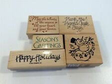 (5) Holiday Theme Rubber Stamps Stampin' Up D.O.T.S. Hero Arts