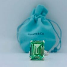 TIFFANY & CO Sparklers Cocktail Green Quartz Ring Sterling Silver size 7