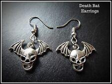 Death Bat Earrings,Halloween,Drop,Bones,Pierced,Long,Fashion Jewellery,Fun,Wings