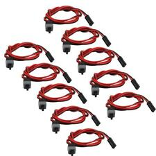 10x PC ATX Power ON/OFF Supply Reset Switch Cable For Computer Motherboard