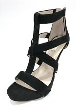 INC International Concepts Peny Size 9.5 Black Strappy High Heel Sandals