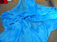 """1 MTR    BLUE TWO TONE POLYESTER CHIFFON FABRIC.....60"""" WIDE"""