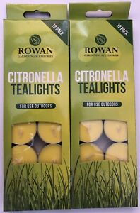 High Quality Set of 24 Garden Citronella Tealight Candles Same day dispatch WOW