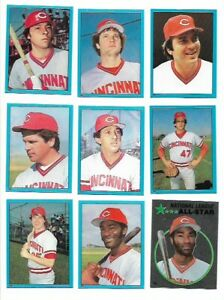 1982 Topps Stickers - CINCINNATI REDS - Team Set - HOF Bench & Seaver