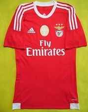 5+/5 BENFICA 2015~2016 ORIGINAL FOOTBALL HOME SHIRT JERSEY PLAYER ISSUE ADIZERO