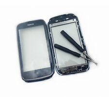 Genuine Nokia Lumia 610 Black Touch Screen Glass Front Digitizer + Frame Tools