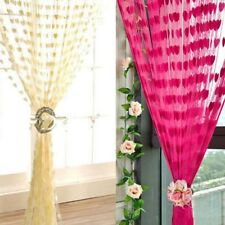 Silk String Curtain Panels ~ Fly Screen & Room Divider ~ Voile Net Curtains hot