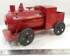 Metal Tin Red Train Locomotive Engine Toy Collectible Unbranded Display Train RR