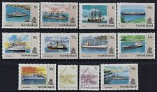 1990-1991 NORFOLK ISLAND SHIP DEFINITIVES COMPLETE SET OF 12 FINE MINT MNH/MUH