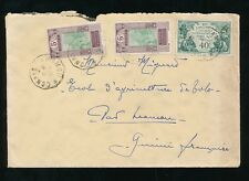 French Guinea 1933 Tpo Internal 5c x 2 + Expo 40c Aof.Conakry a Mamou