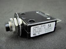 5A 250V Push-Button Circuit Breaker w/Quick Connect Terminals - Philmore B7005