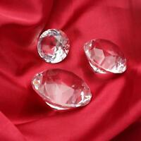 Crystal Clear Paperweight Faceted Cut Glass Giant Diamond Jewelry Decor Craft!
