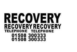 RECOVERY TRANSPORTER TRUCK STICKERS (COMPLETE SET )