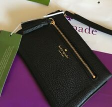 KATE SPADE 💯%Authentic Tinie Chester Street Black Leather Wristlet iPhone 6 7