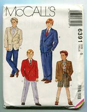 McCall's Pattern 6391 Boys Lined Jacket Pants Shorts 3 Variations Size 5 Uncut