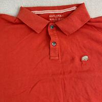 Banana Republic Polo Shirt Mens 2XL Salmon Short Sleeve 100% Cotton Casual Polo