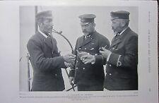 1898 BOER WAR ERA PRINT ~ GUNNER BOATSWAIN & CARPENTER TALKING ABOUT PIPES NAVY