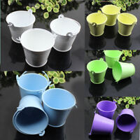 10Pc Tin Pails Mini Candy Favour Box Pail Bucket Wedding Party Gift 8 Colors Hot