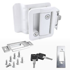 White Rv Paddle Entry Door Lock Latch Handle Knob Deadbolt New Camper Trailer